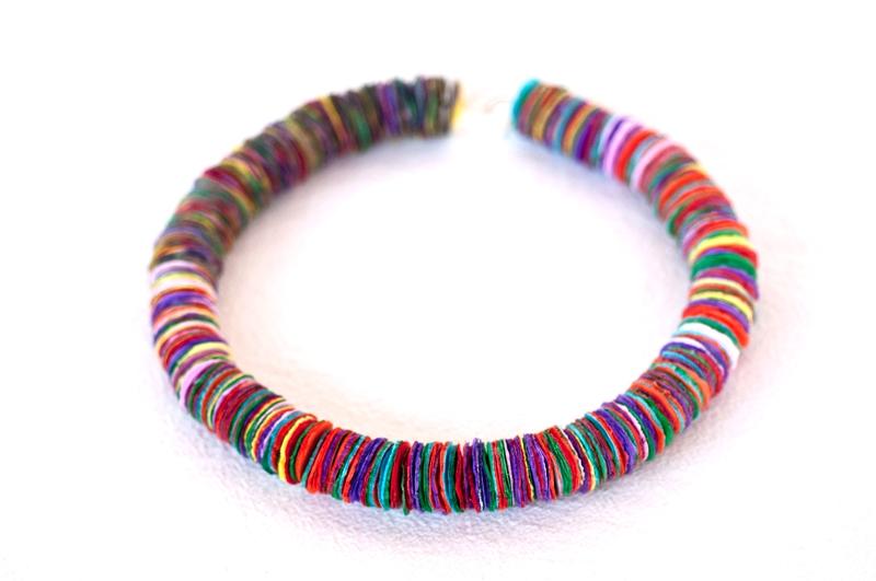 cut paper necklace