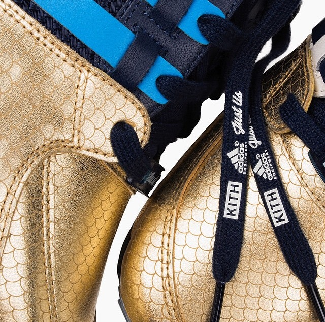 A little sneak peak shot of the Ronnie Fieg x Adidas Consortium EQT Support 93 that is dropping exclusively at KITH shops Saturday, October 11th. Picture via  @Ronnie Fieg