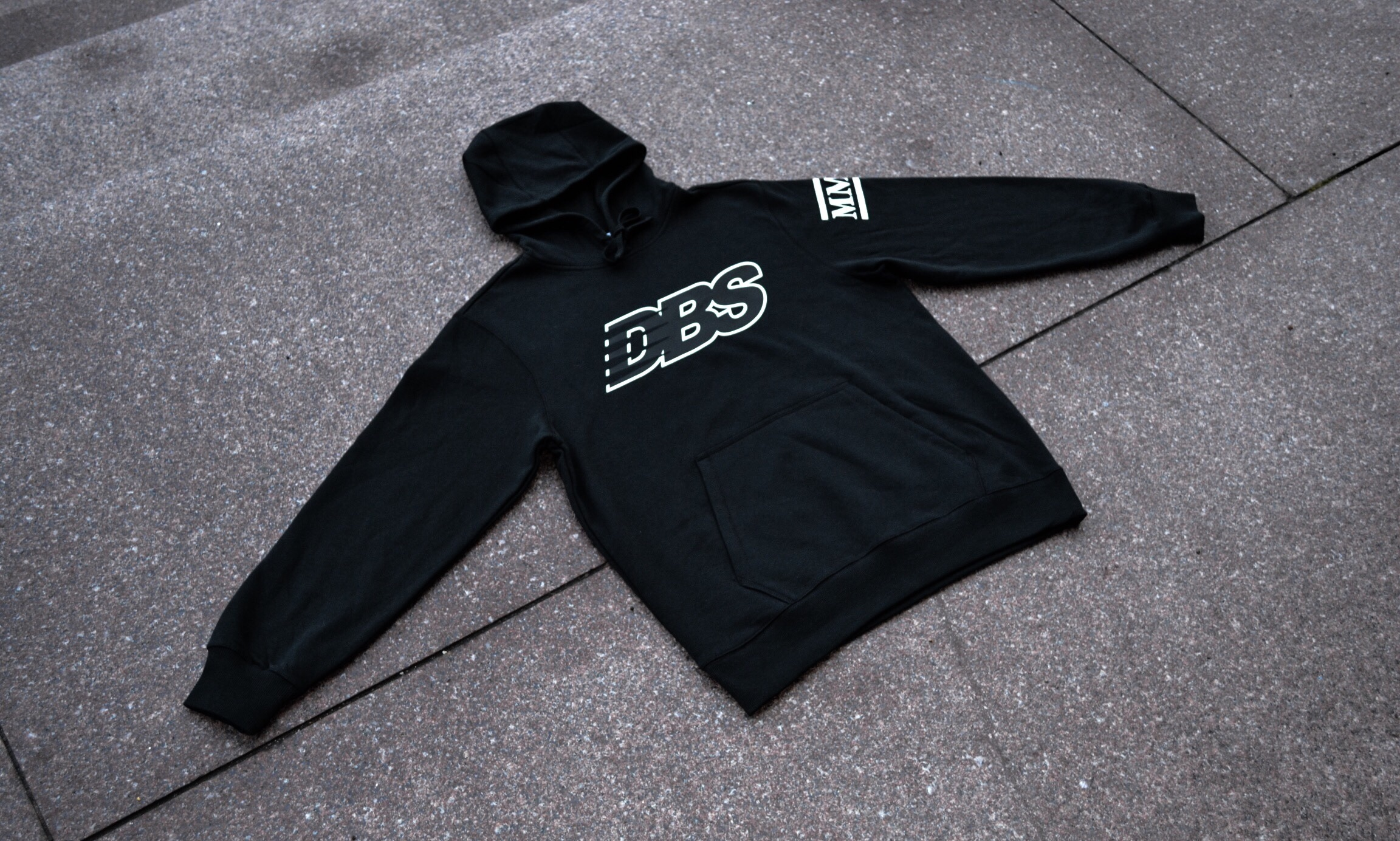 """The DBSMC """"Runner"""" Hoody features a DBS logo inspired by one of the shop's favorite brands, New Balance."""