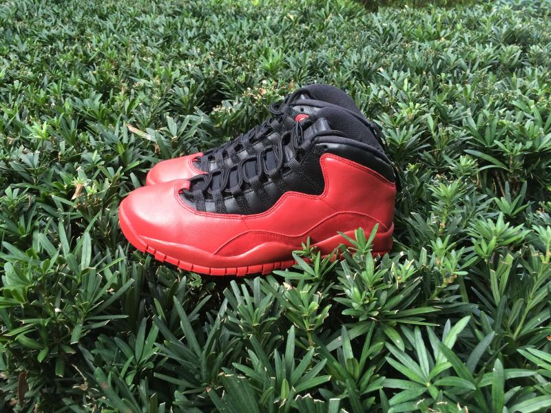 """One of the first good pictures we've gotten ofthe Public School NYC x Air Jordan 10 """"Tropic City""""."""
