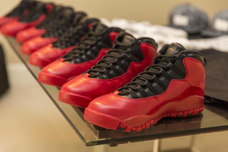 "A closer look at the PSNY x Air Jordan 10 ""Tropic City"""