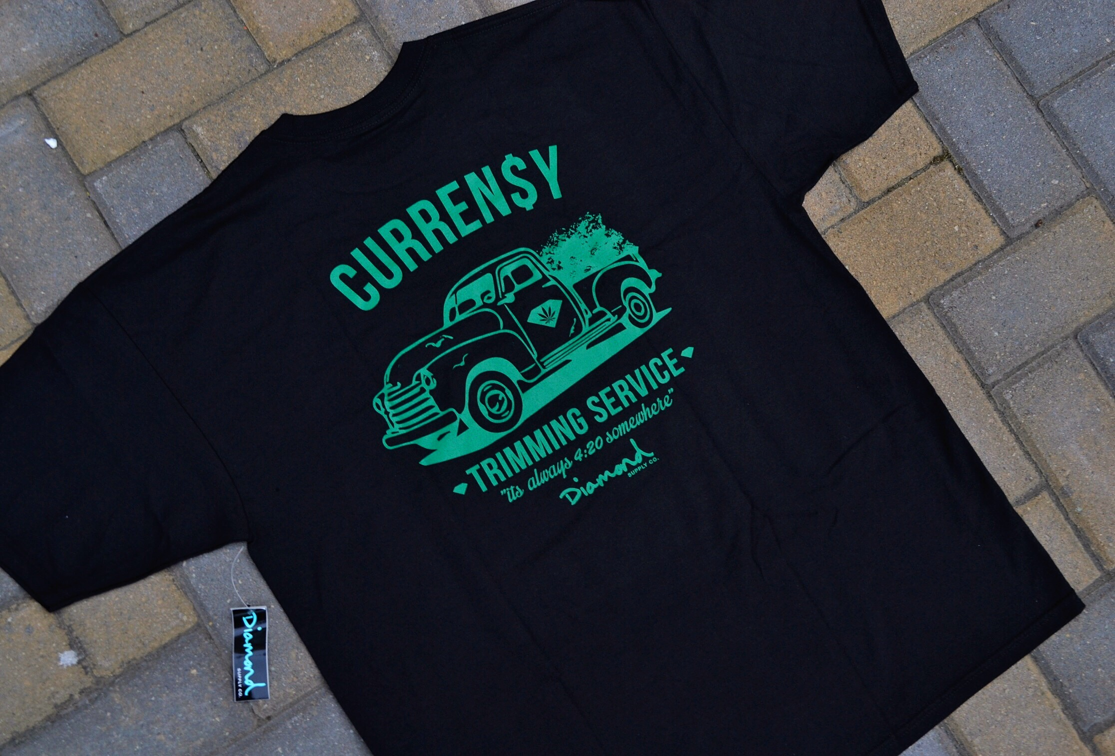 The Curren$y x Diamond Supply Co 4/20 Tee Shirt.