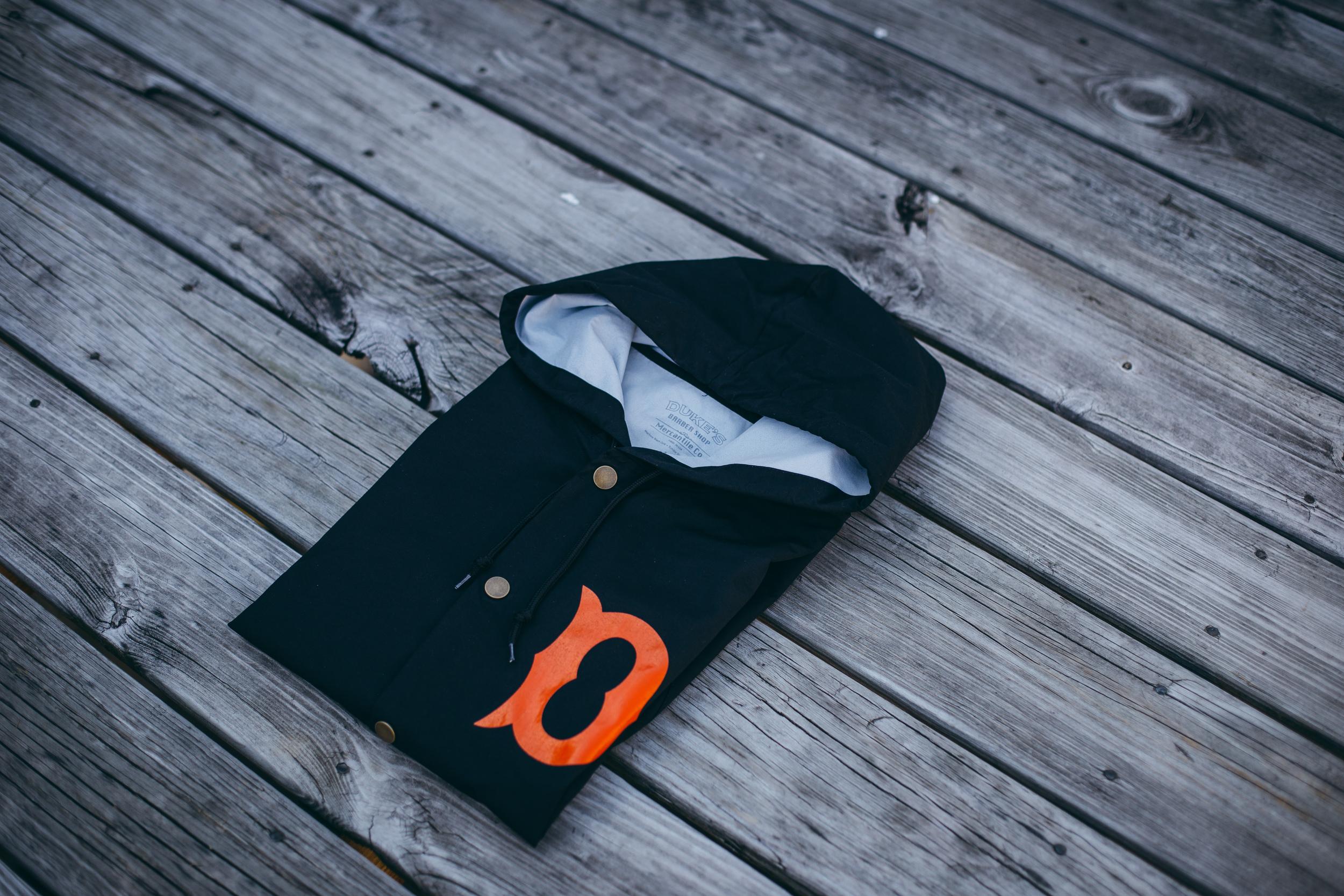 Black/Orange Front Detail