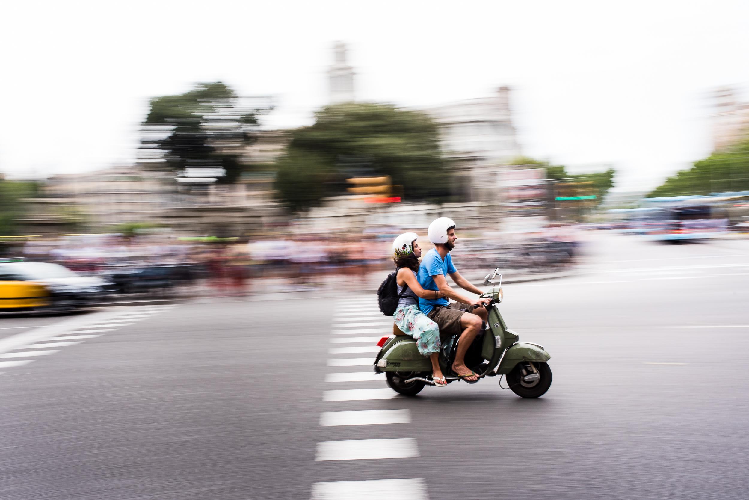 Vespa ride, Barcelona