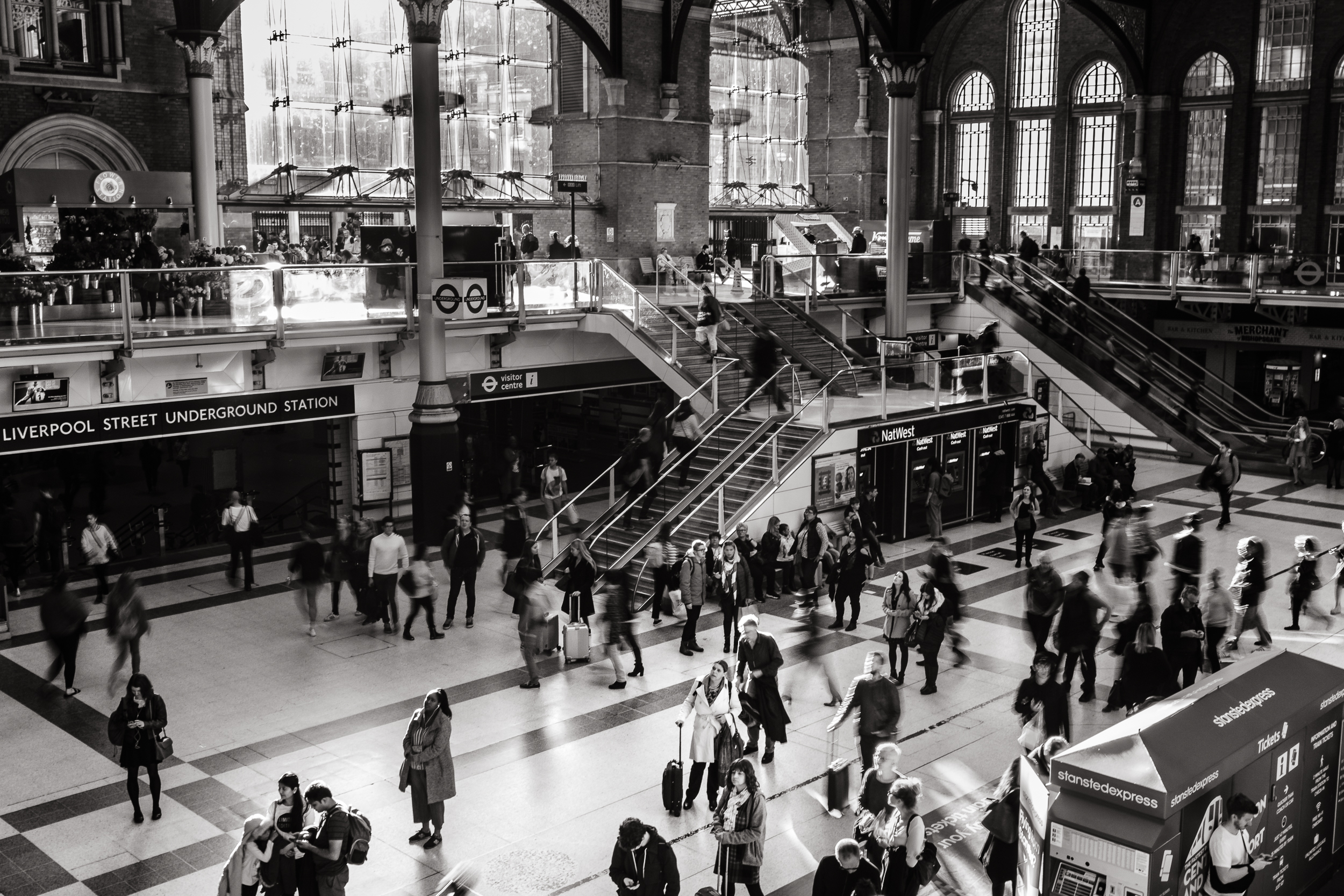 Liverpool Street Station action, London