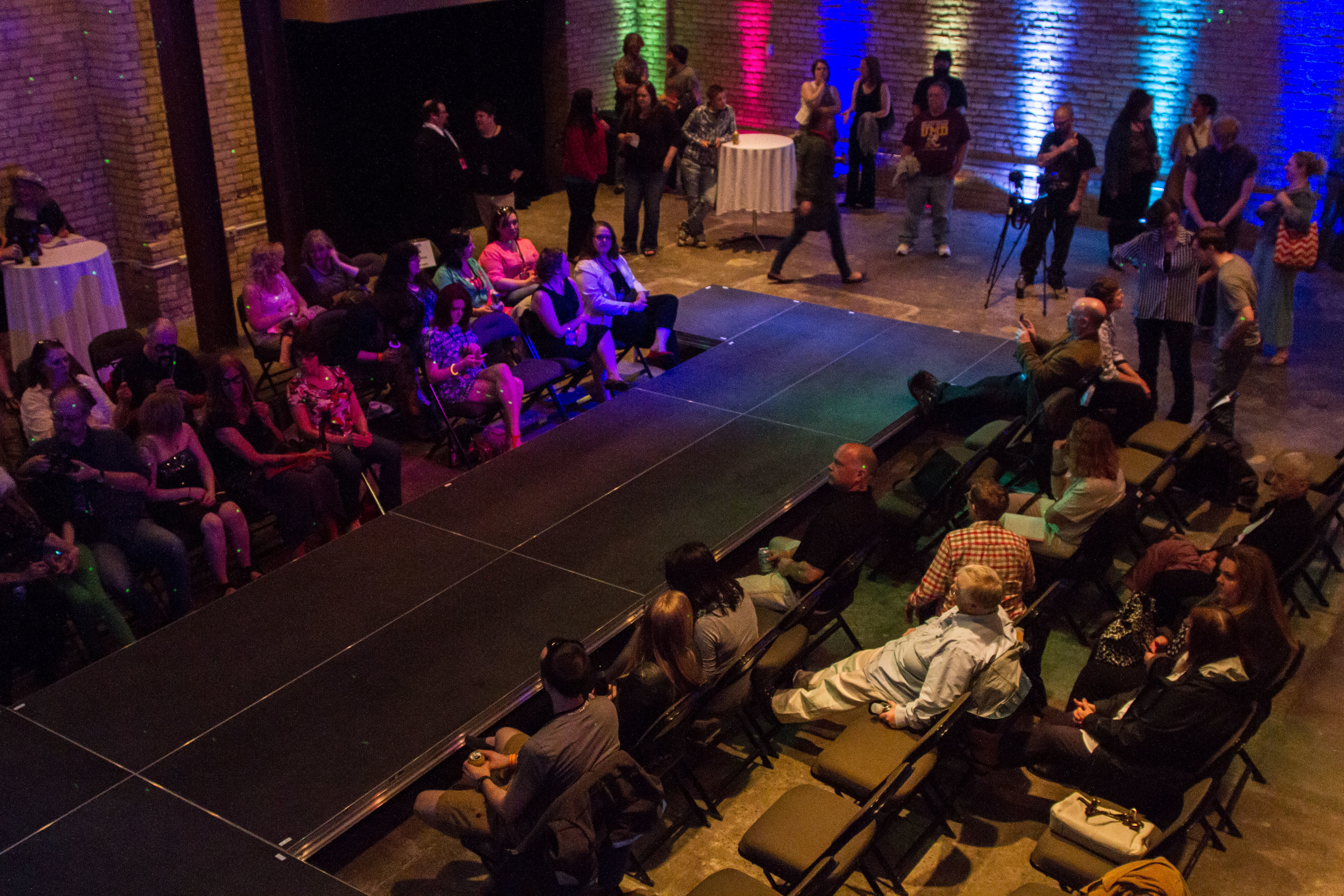 Photo of the runway at the Underground in Duluth, MN.  Photo by  Nickila Photography  , as part of Kickstarter donation perk.