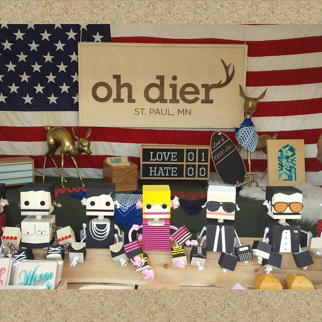 Marc, Coco, Betsey, Karl, and Tom - Fashion icon Block Bots by  Oh Dier .