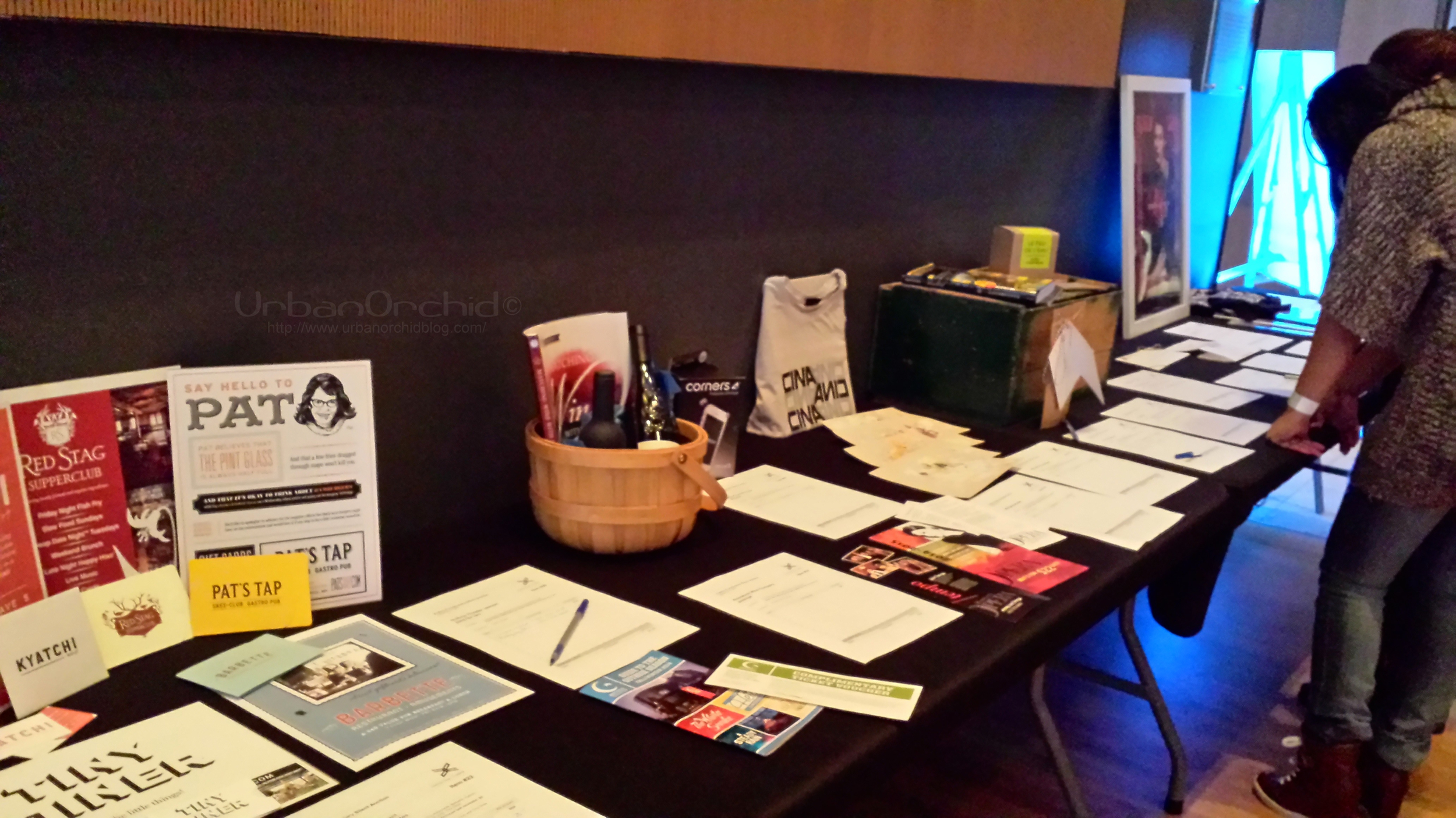Silent auction items benefitting Public Functionary at Envision Fall 2014.