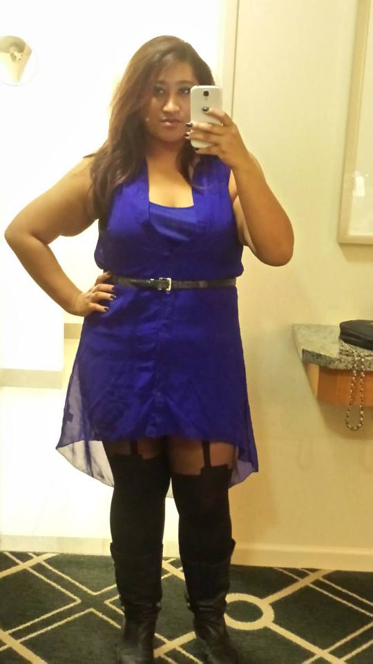 Typical pairing for a night out in this dress. This was in November 2014.