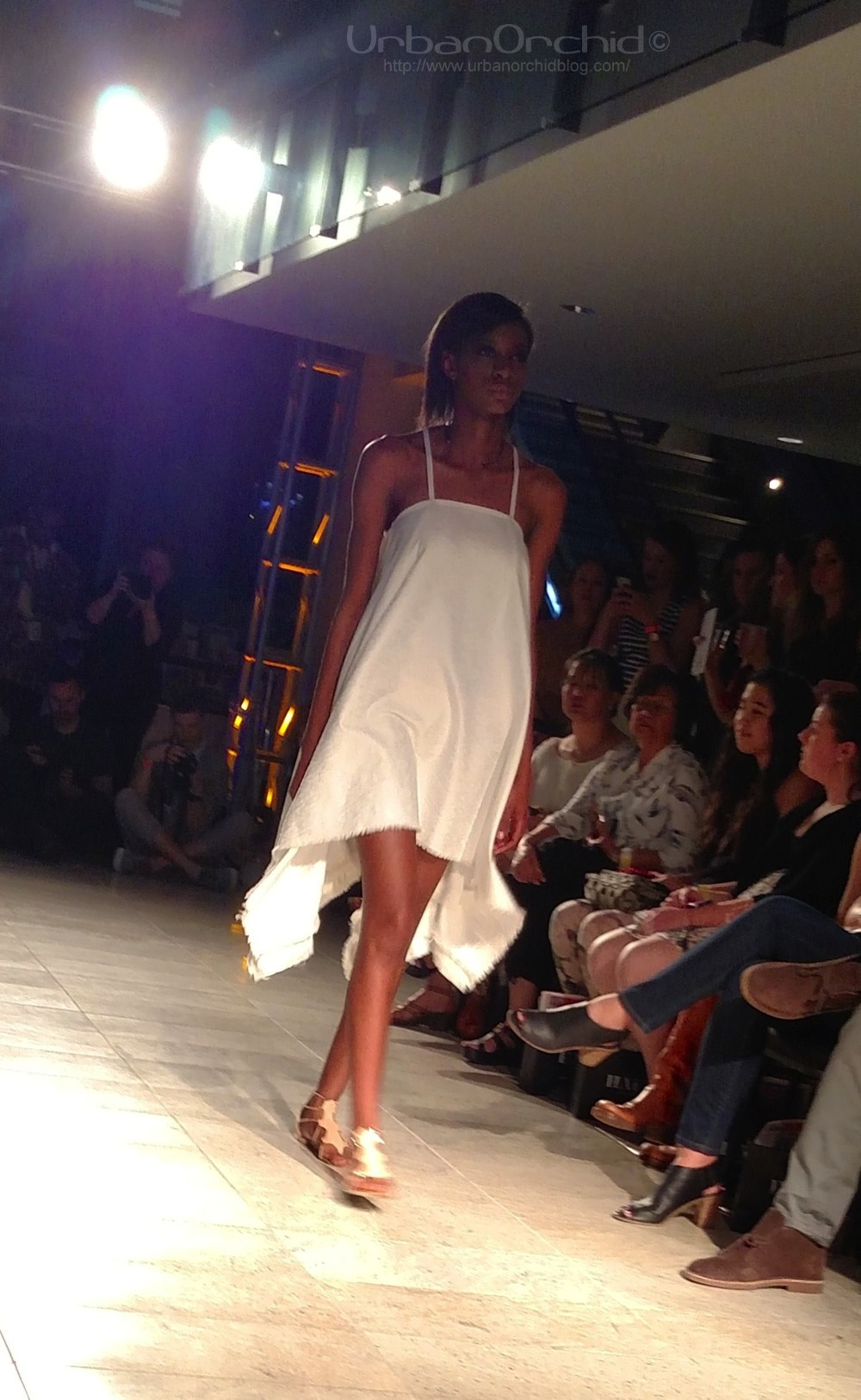 Floaty white dress by EMAH from Ellie Hottinger.