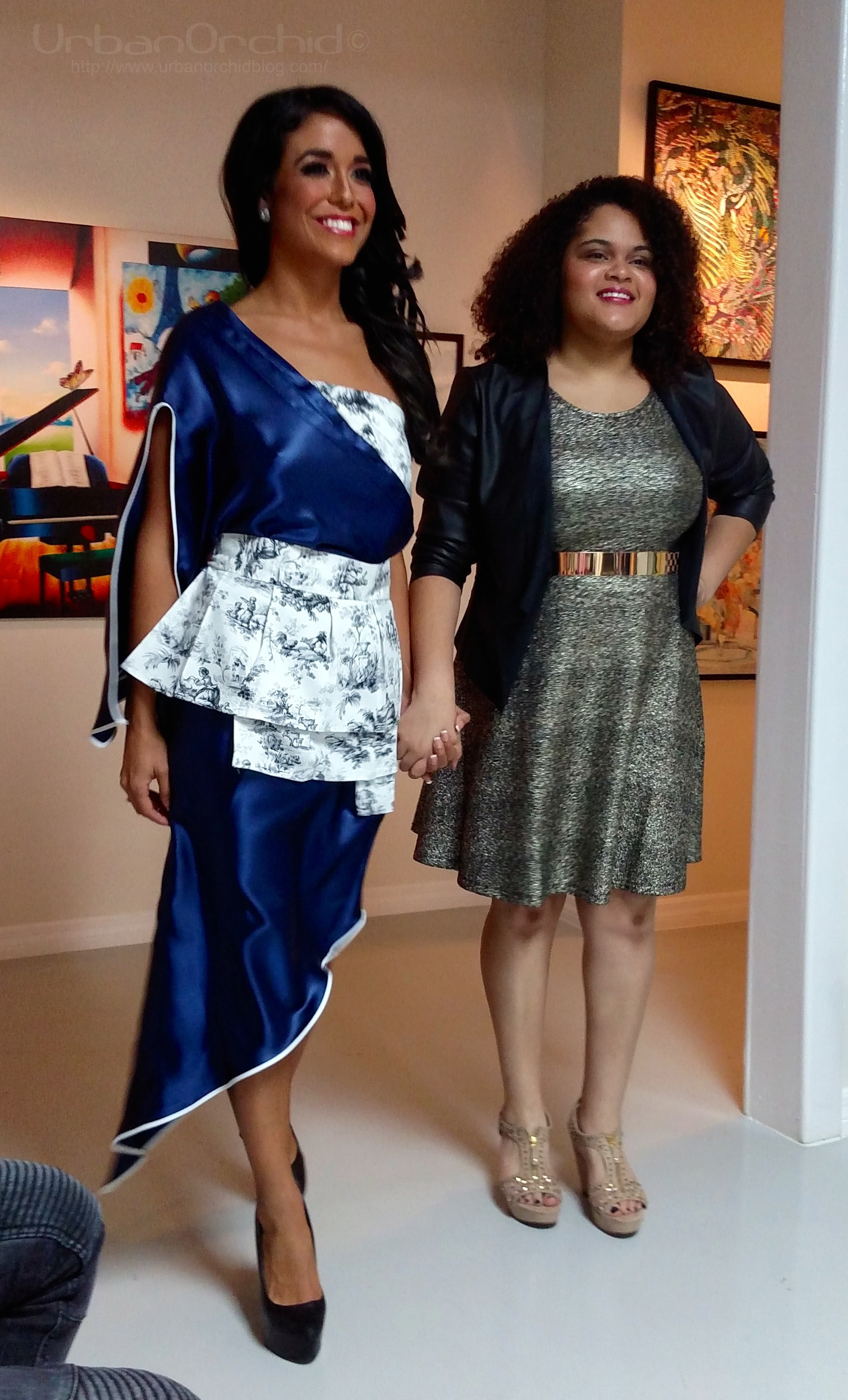 Model with the designer herself, Senia Soto.