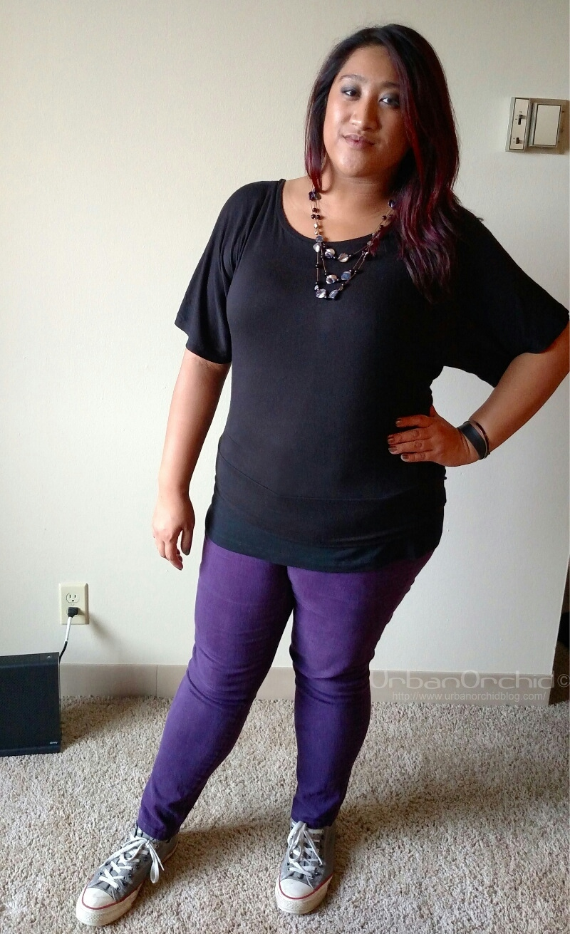 The pricetag on these ZanaDi purple pants?  $4.75!