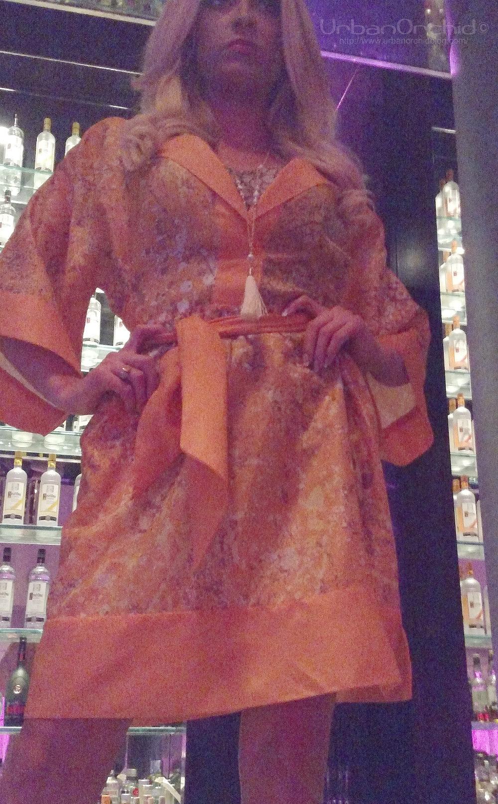 Kaftan by Misha No Noo, necklace by Valerie Carpender