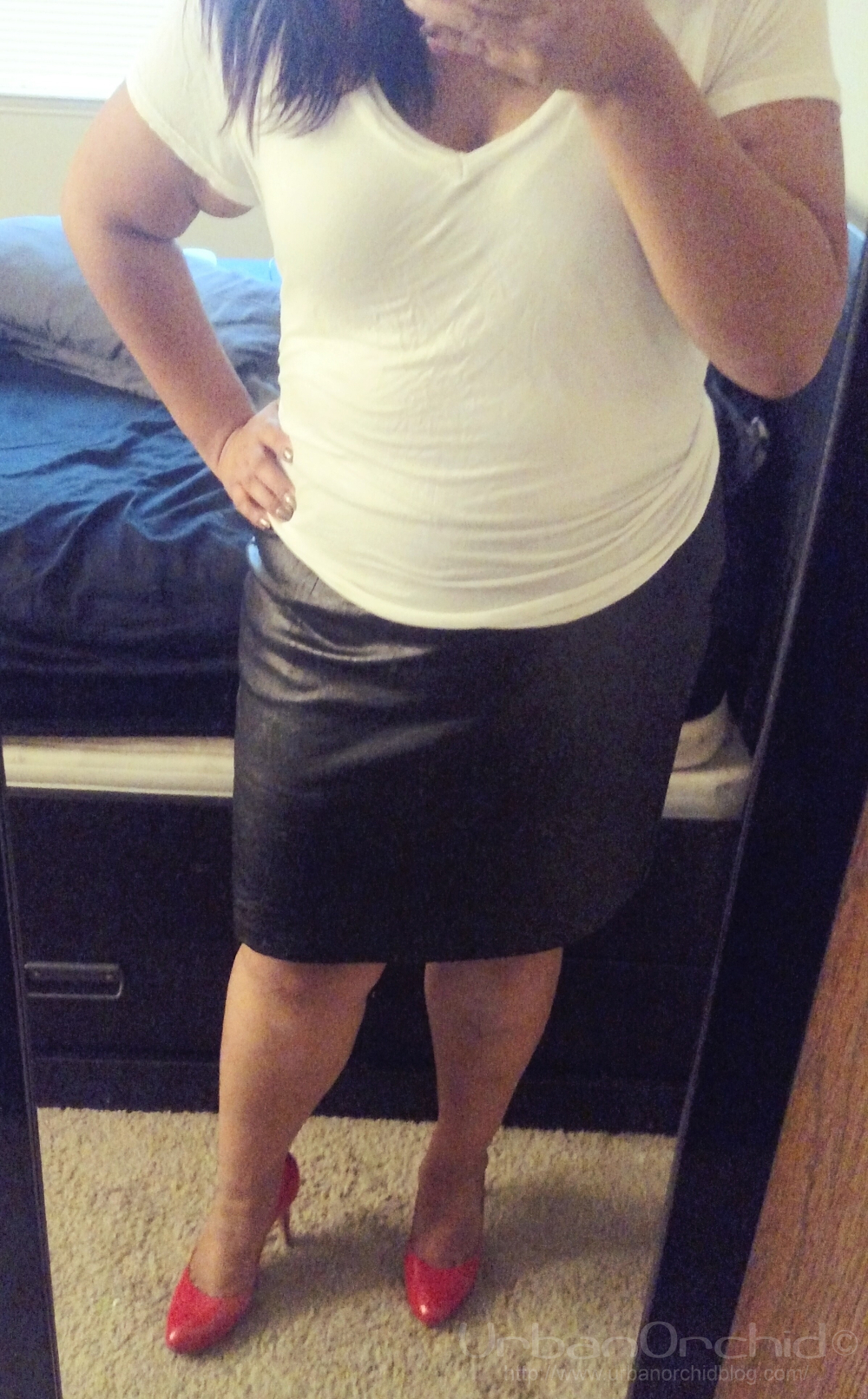Pleather skirt by Venezia Jeans I picked up at the Plus Size Pop Up.