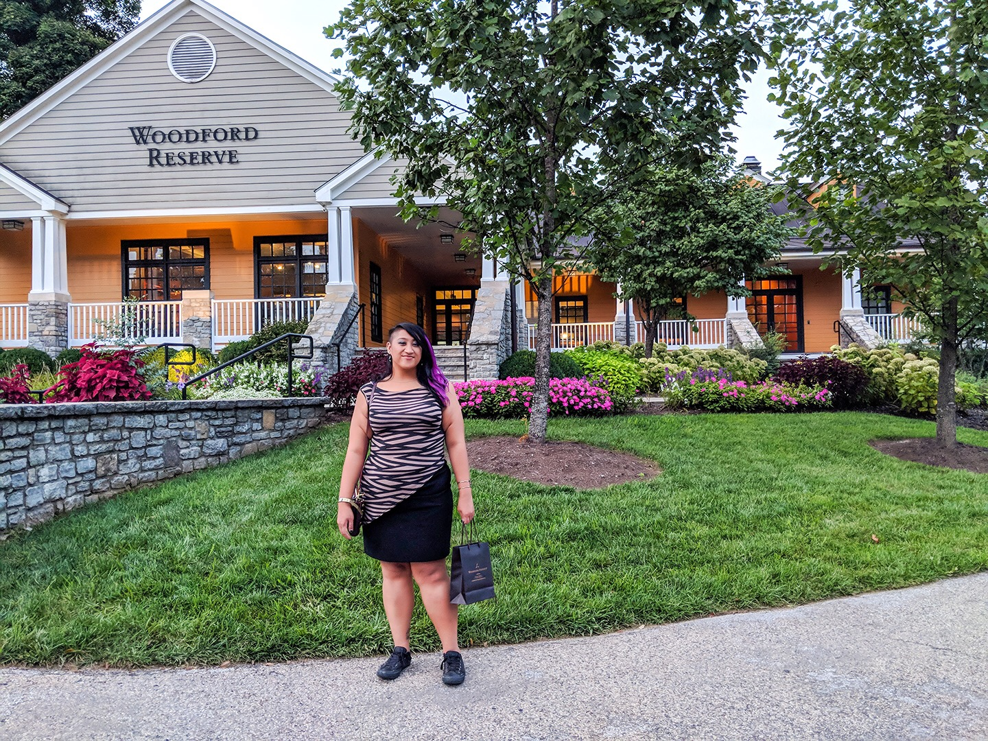 The Woodford Reserve distillery had me all 😍.  Wearing a  Tessa Louise  top and thrifted skirt.