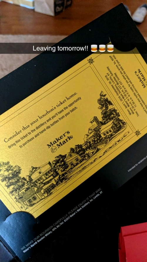 The Golden Distillery ticket!