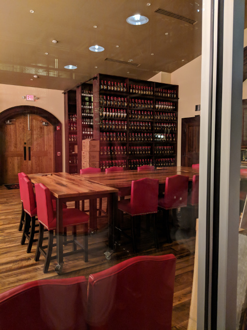 Tasting room for Private Select clients.