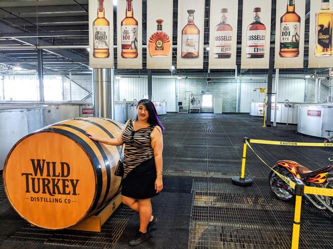 At Wild Turkey Distillery.