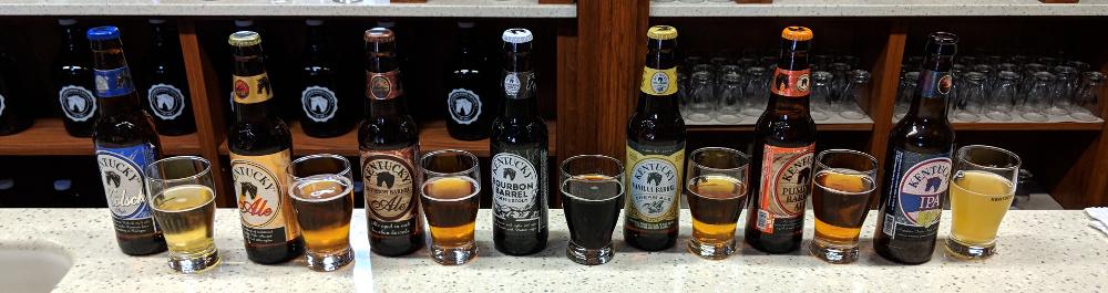 Beer tastings at the brewery.