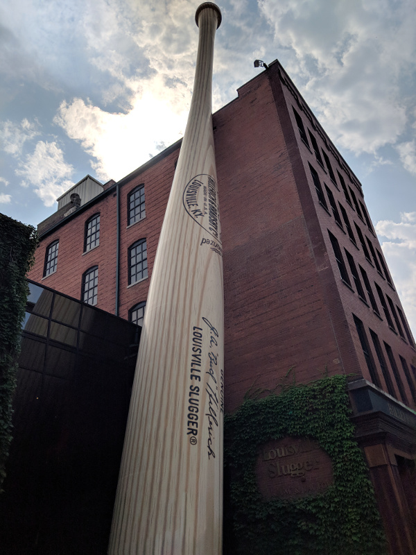 Outside the Slugger museum