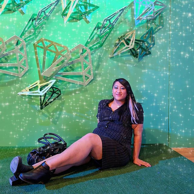 Had way too much fun at @youreagemmsp's opening night for #fwmn ✨ . . . Played in the ball pit, stepped into a geode, twirled around in the opal tunnel, and more.  My fave moment was sitting in @pinklinendesigns spring themed gemstone installation 💚💎 . . . #youreagem is up during weekends in May at @northrupkingbuilding - check it out!! Cool idea from #mnmaker @larissaloden and proceeds from ticket sales go to @nemaamn to help support #minnesotaart . . . #minnstagram #madeinmn #flashesofdelight #magicmoments #nkb #northrupkingbuilding @fashionweekmn
