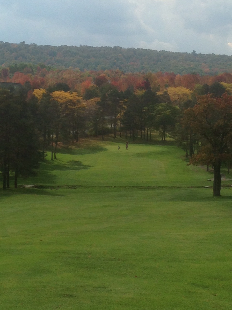 looking down the 1st fairway in the fall.  photo credit: Ryan Molter