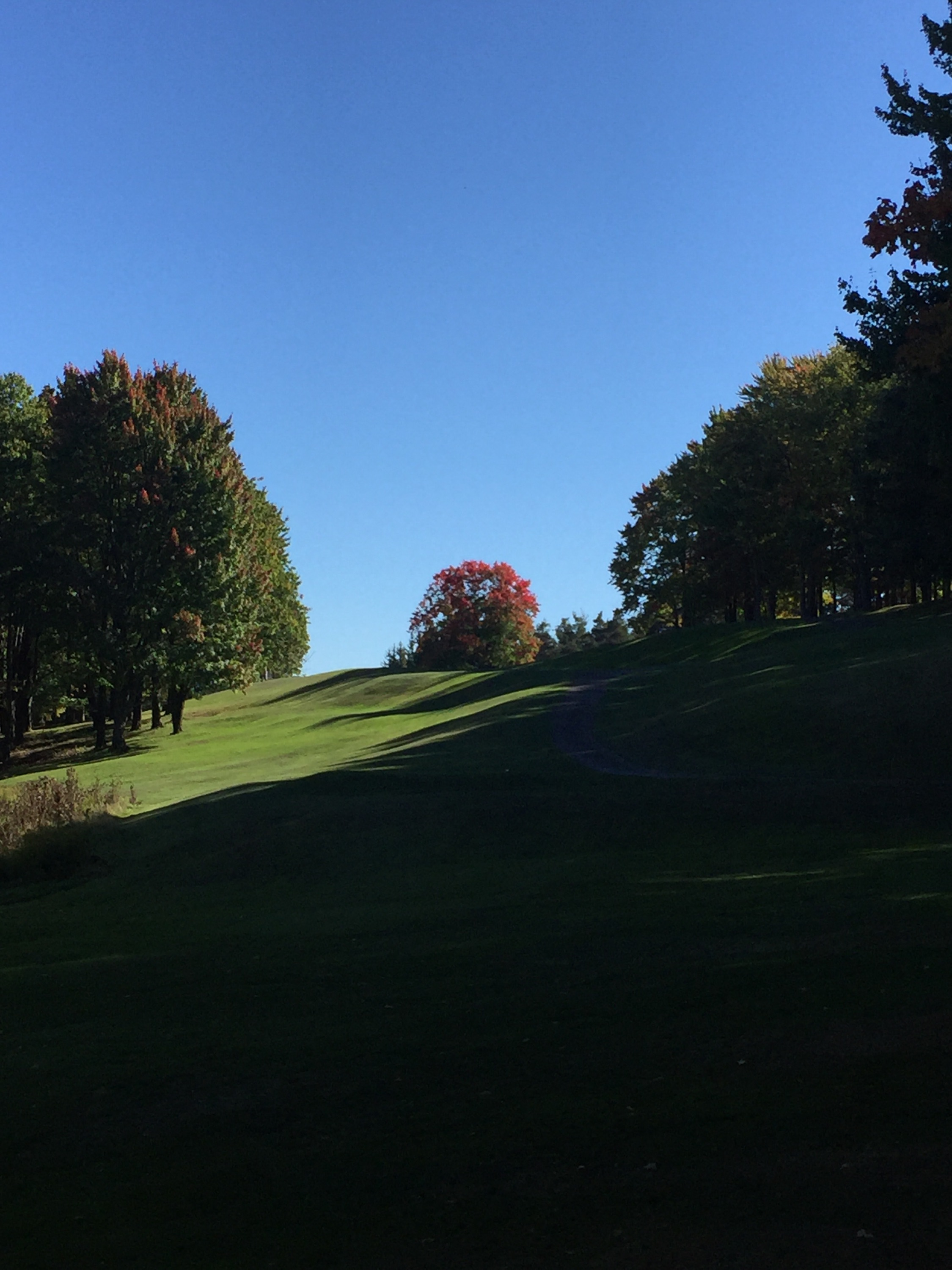 The first touches of autumn on hole #4.  photo credit: Ryan Molter