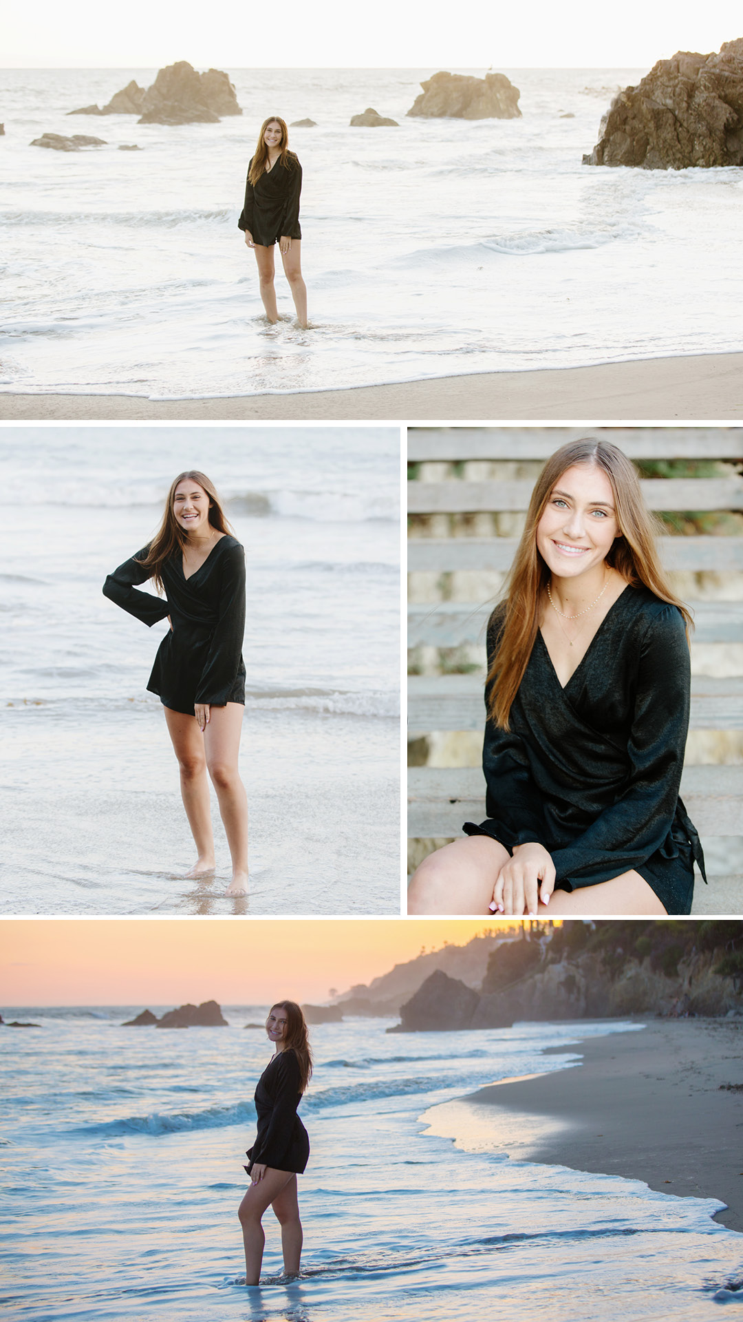 Malibu beach senior photos