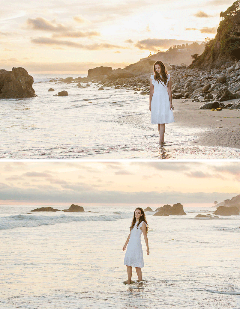 Ventura County senior pictures at the beach