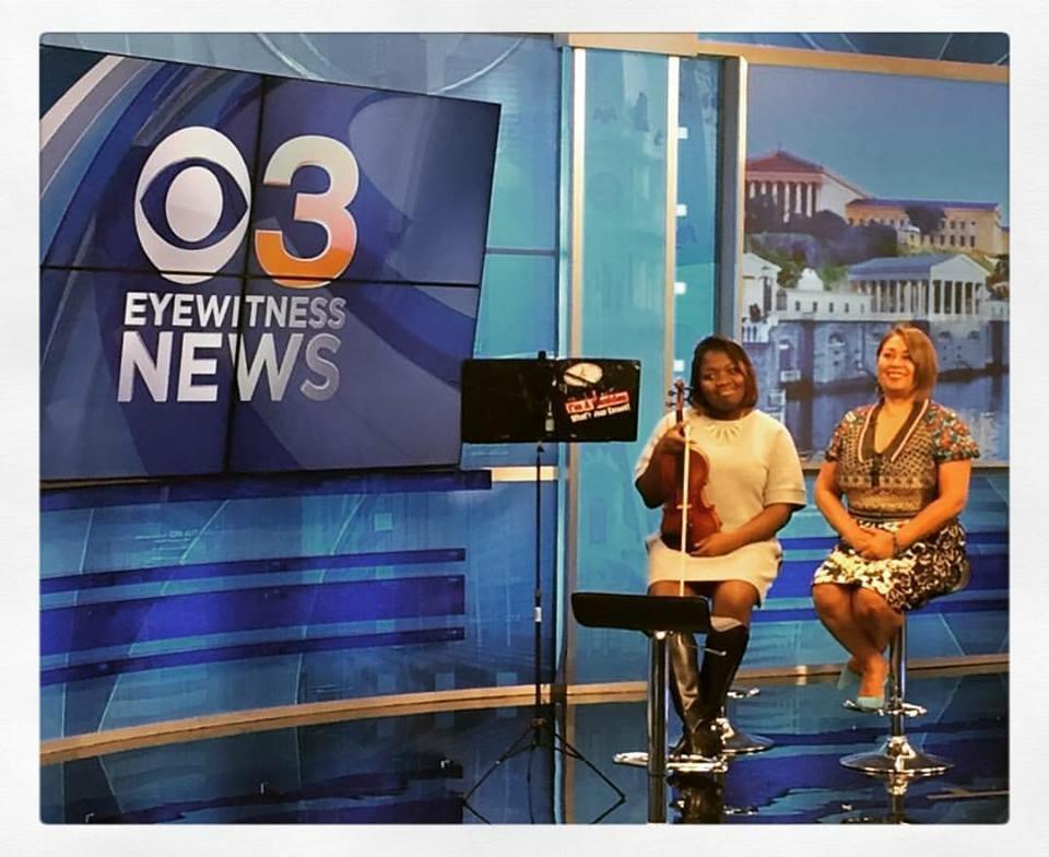 Akili Farrow on Eyewitness News as a Marian Anderson Award winner