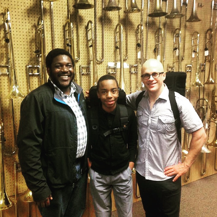 AD Kenny Bean Trombone shopping with Christian Kercy