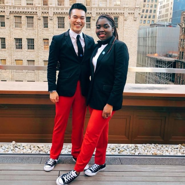 Alumna Akili Farrow with Ray Chen in New York