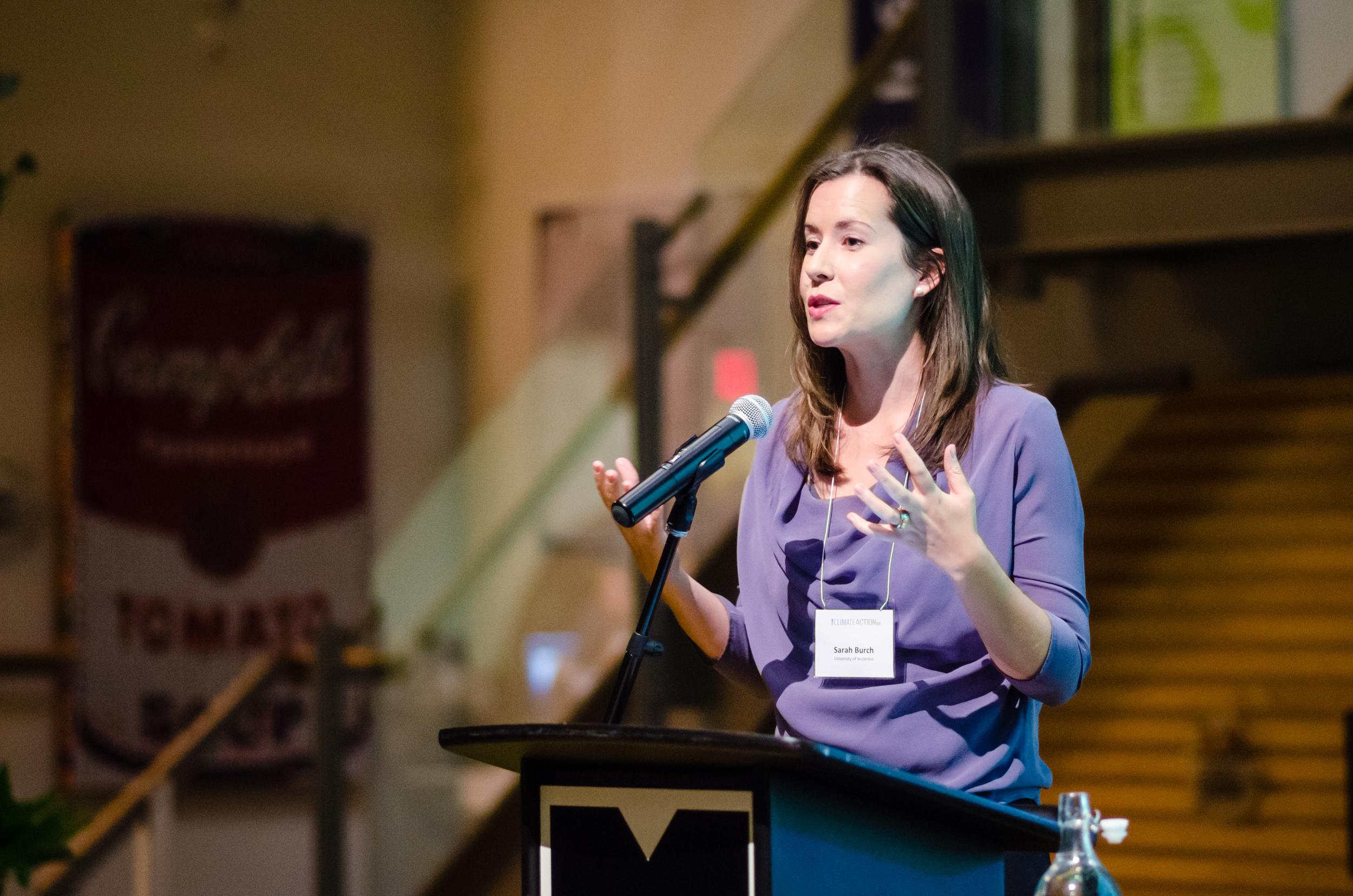 University of Waterloo Professor  Sarah Burch discusses case studies of other successful sustainability initiatives in urban communities.