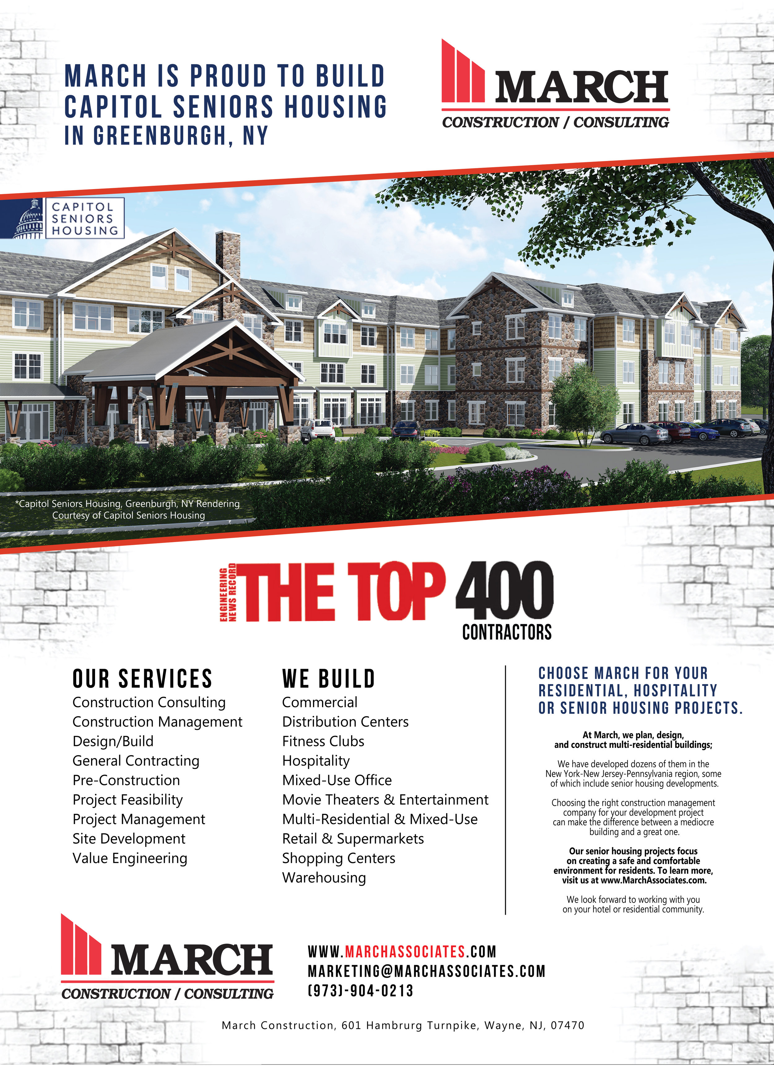 March Construction is proud to build Capitol Seniors Housing in Greenburgh, NY