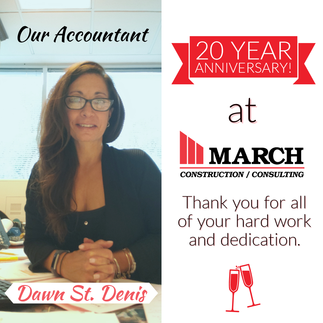 Dawn St. Denis 20 Years At March Congratulations!