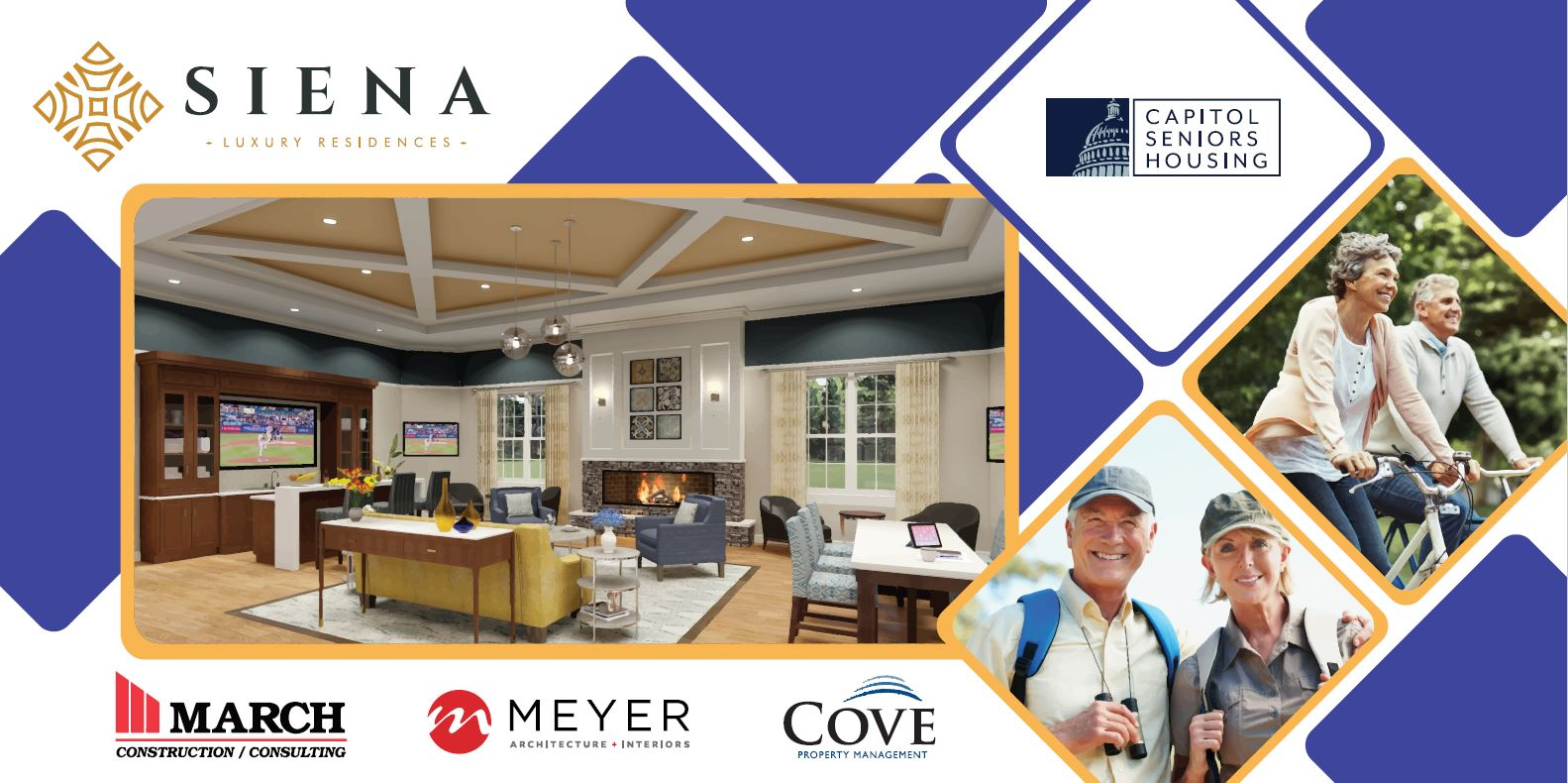 CSH Siena in cinnaminson, new Jersey groundbreaking ceremony March Construction, Meyer Architecture, Capitol Seniors Housing, & Cove