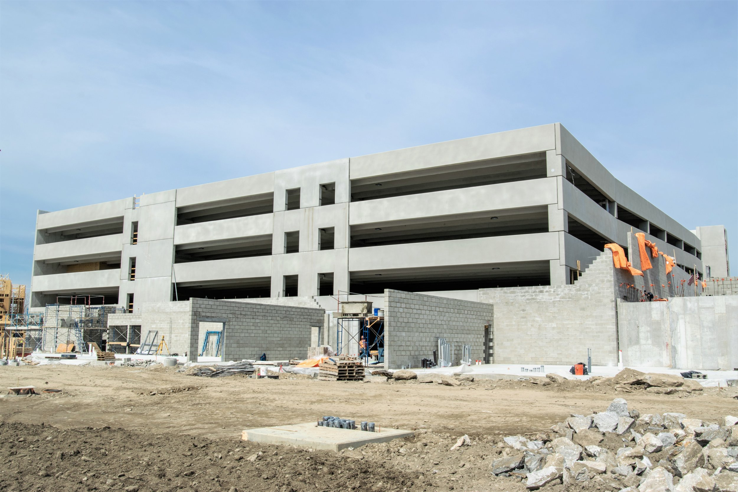 Parking Garage Carraway Apartments built by March Construction