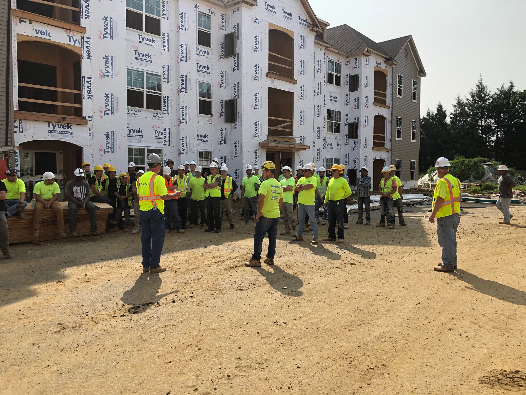 Safety Awareness Stand Down March Construction at Siena 55+ Luxury Residences Project