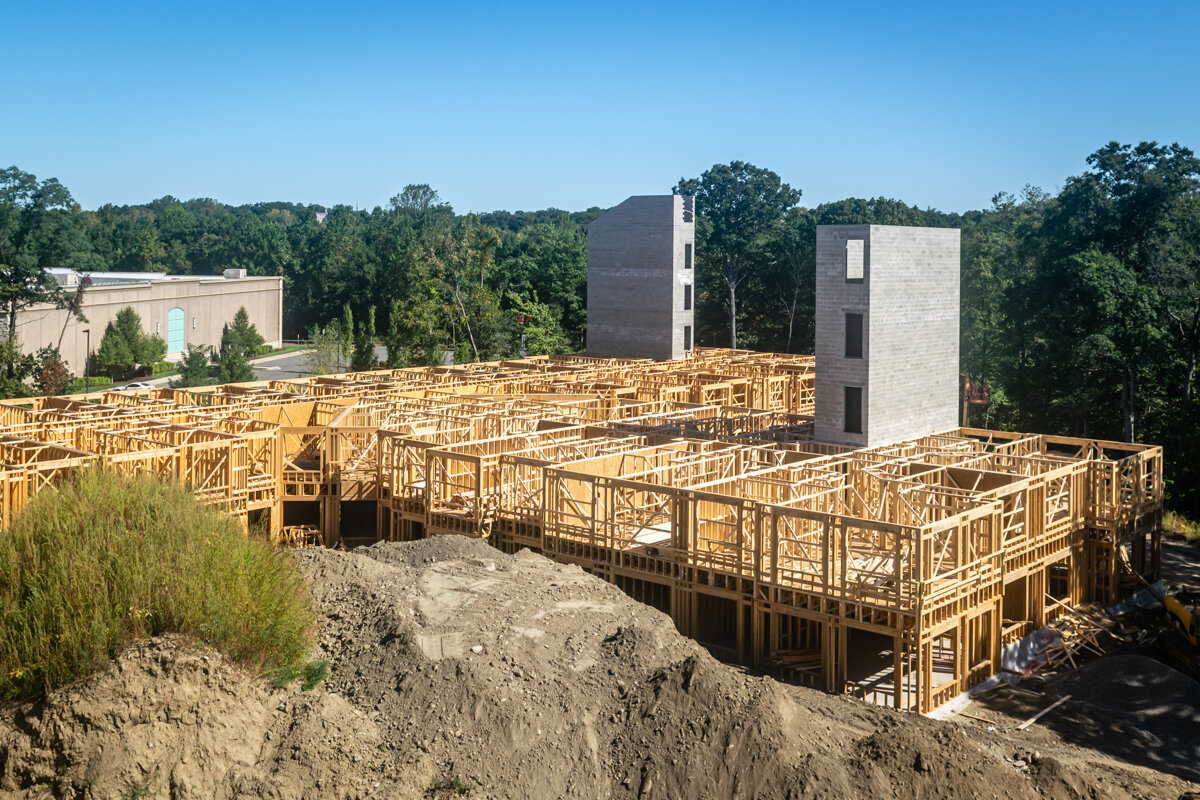 Carraway Apartments Building Construction Progress with Parking Garage
