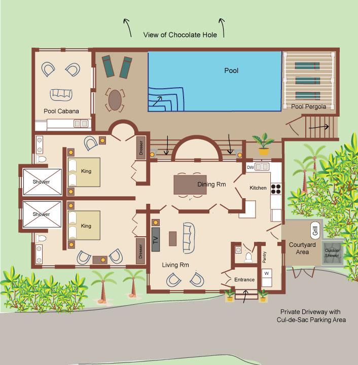 Villa Divertimento Floor Plan
