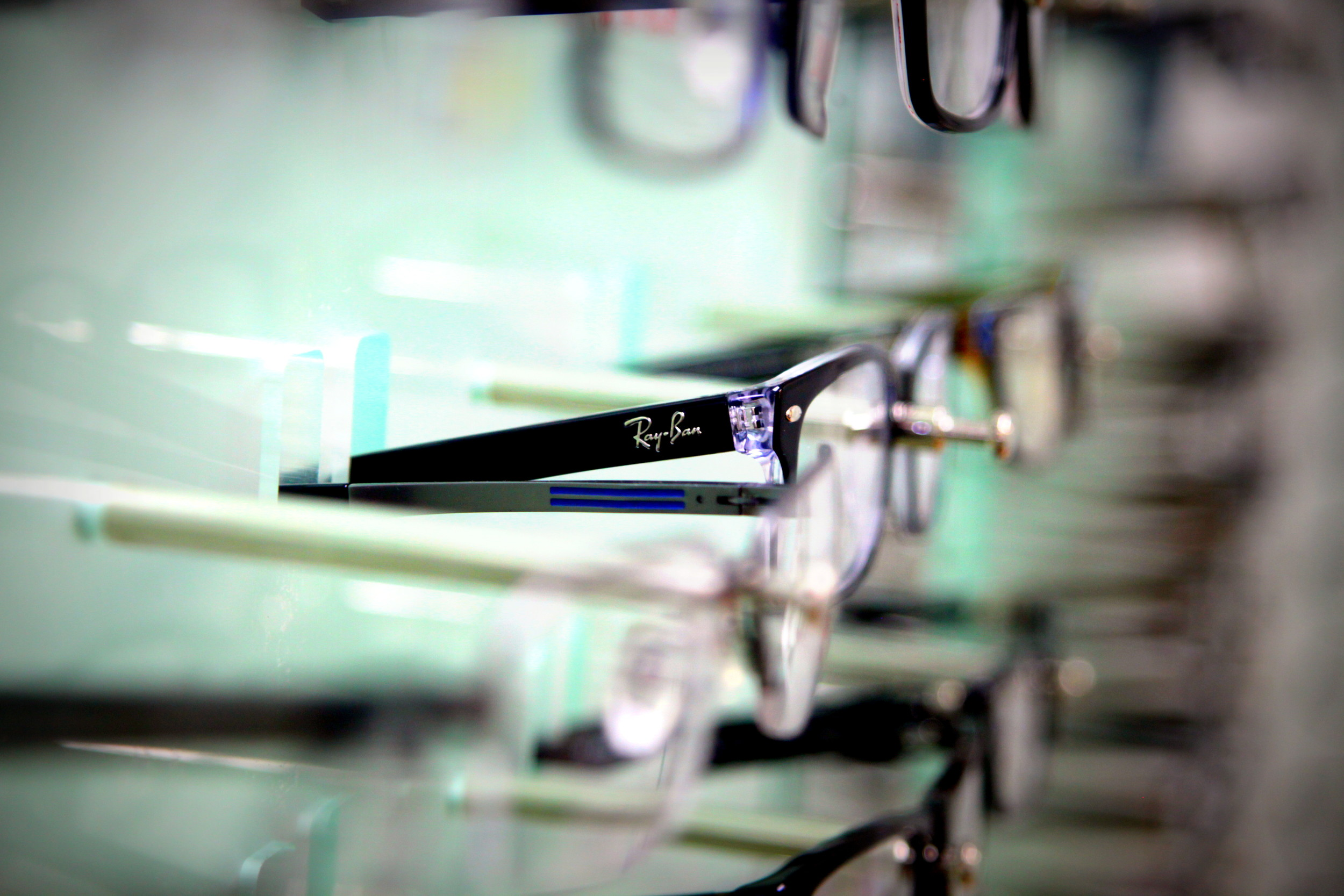 eyeglasses - ray ban in middle
