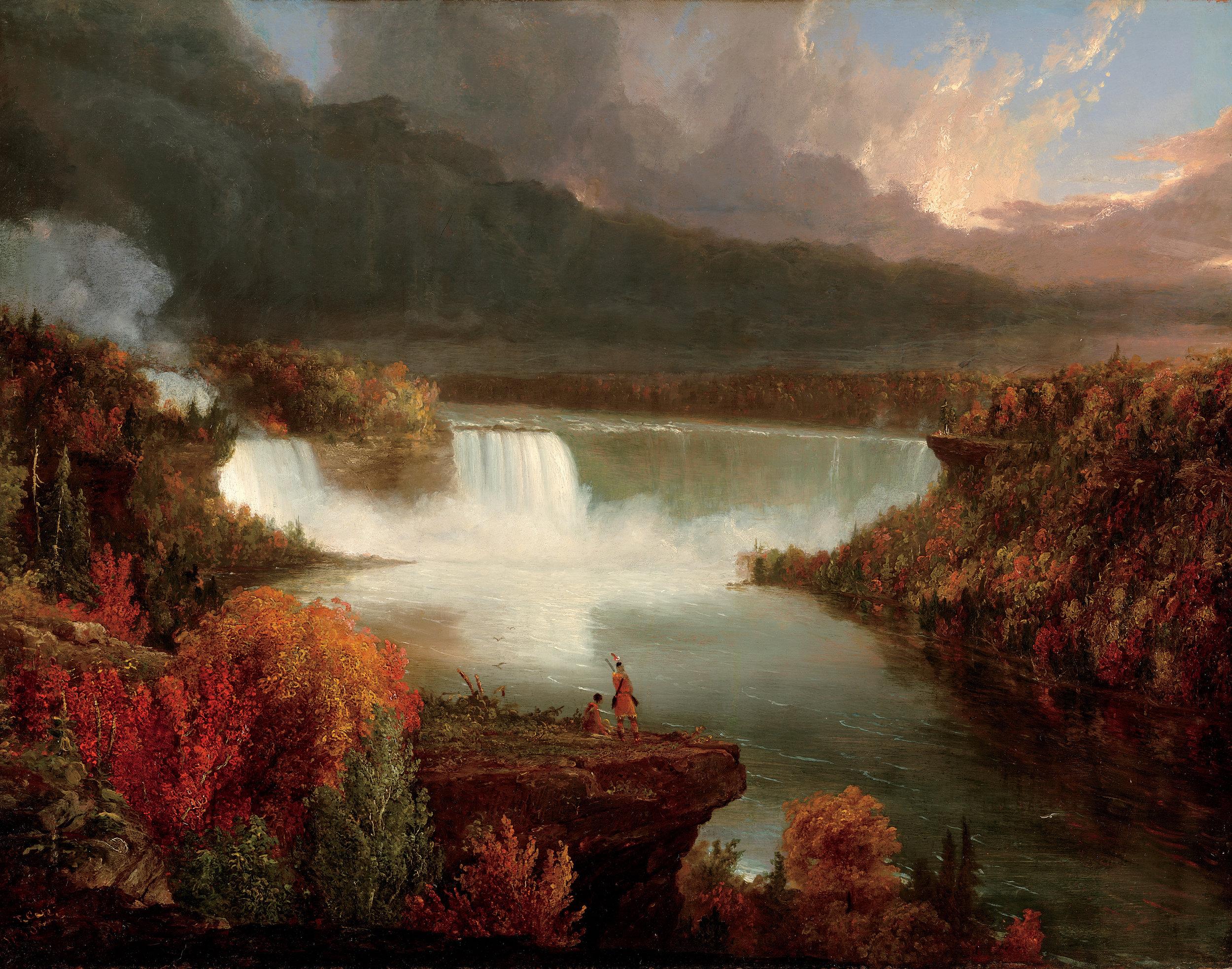 """Distant View of Niagara Falls,"" Thomas Cole. (1930)"