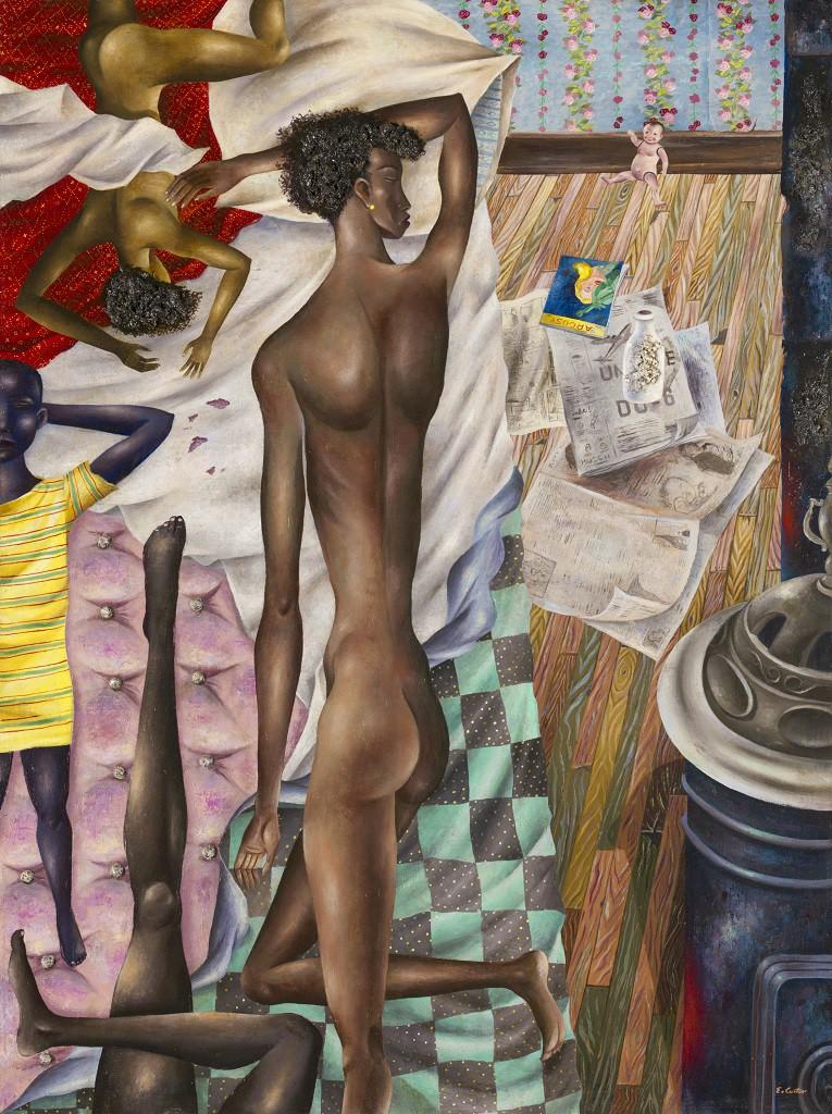 The Room No. VI, (1948).  Eldzier Cortor