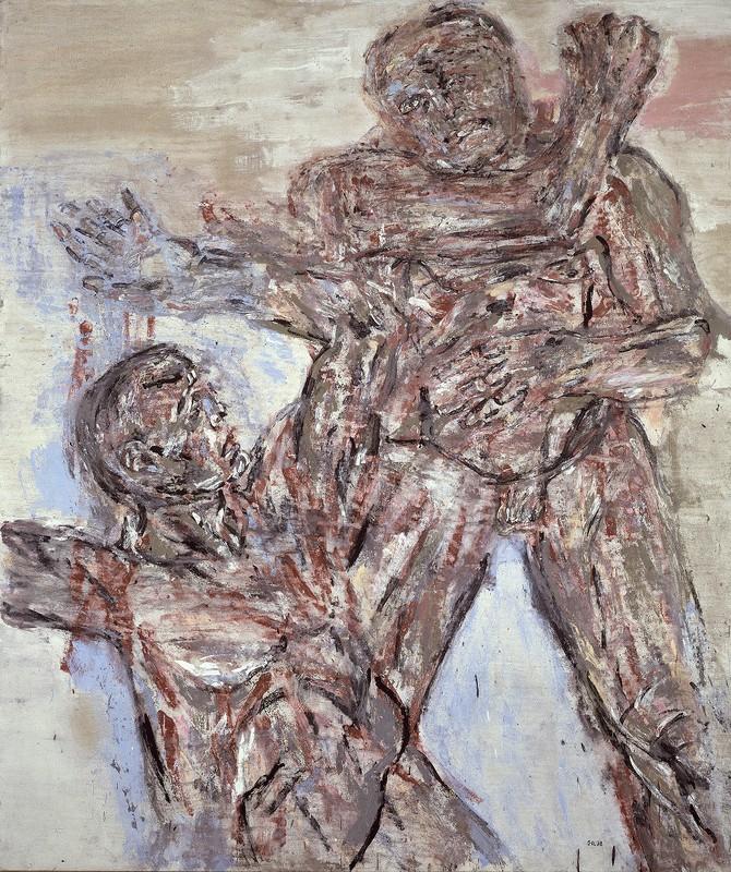 Combat,  Leon Golub. 1964.