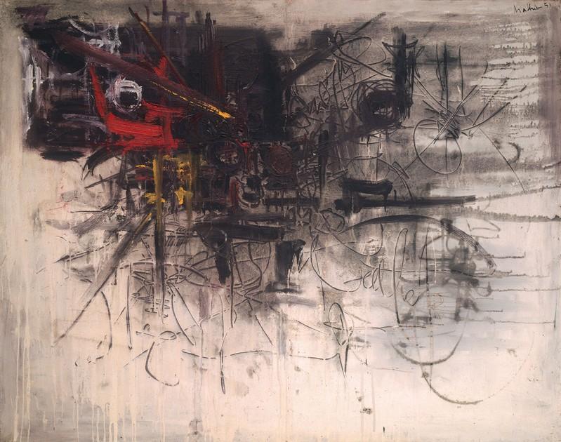 Faintness (Matité),  Georges Mathieu. 1951.