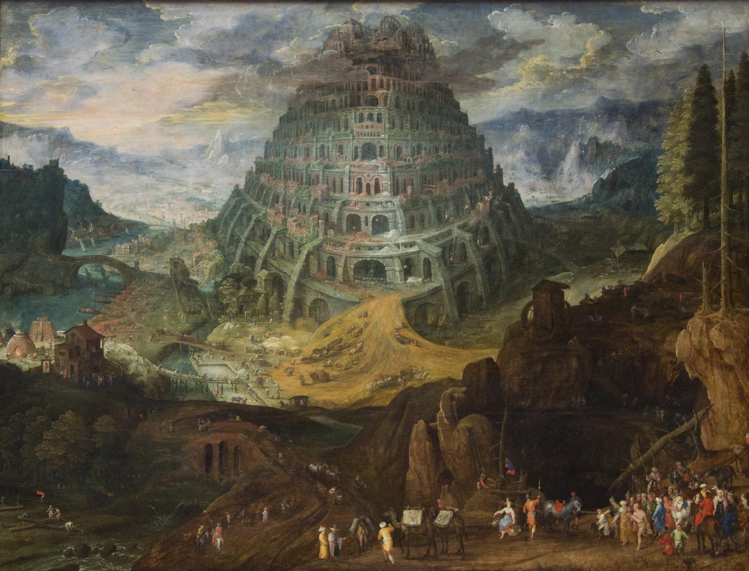 Toren van Babel  , Tobias Verhaecht and Jan Brueghel de Oude