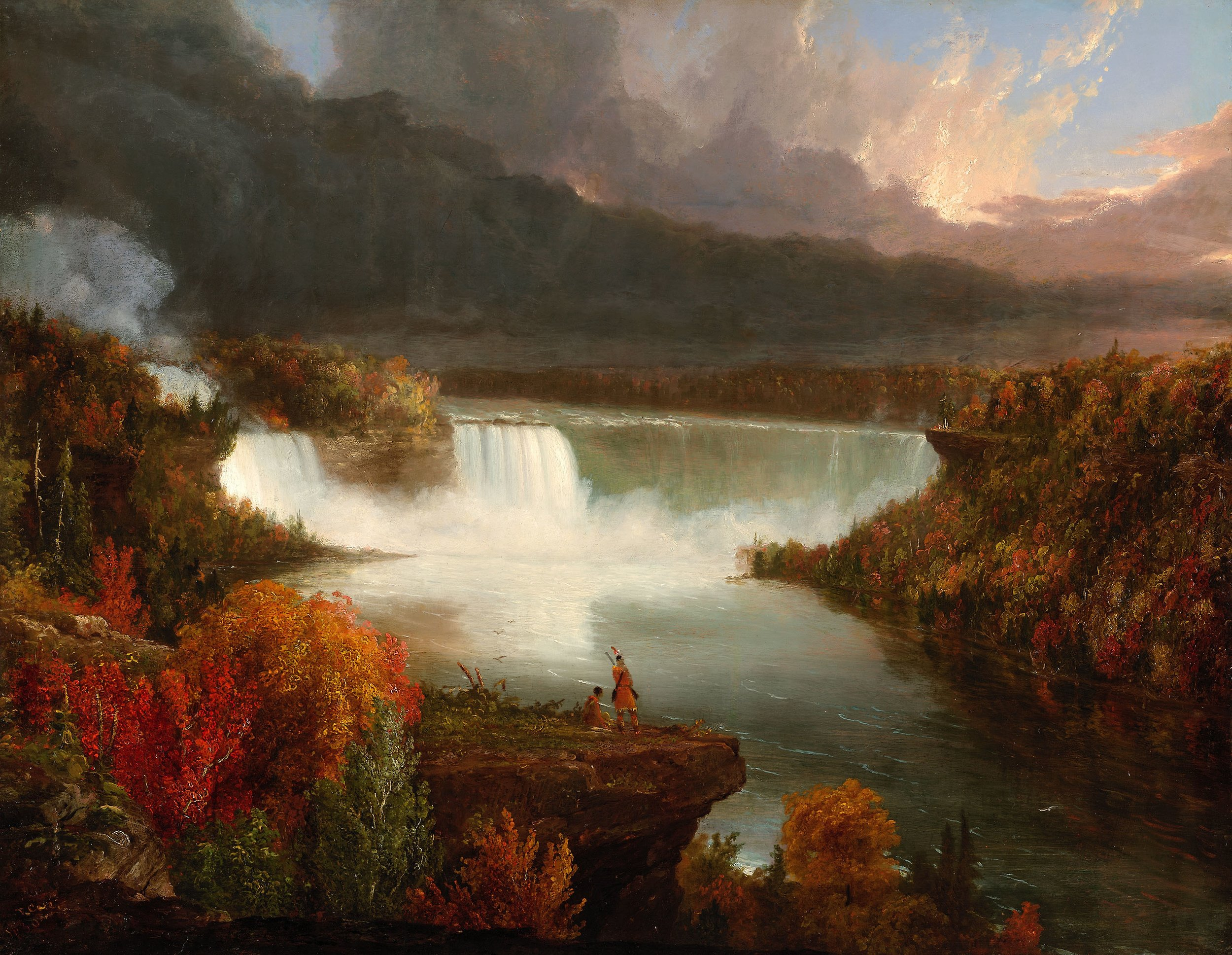 Distant View of Niagra Falls , Thomas Cole. 1830.