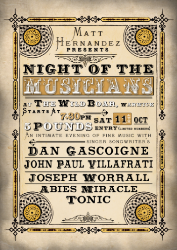 11th Oct Night Of The Musicians