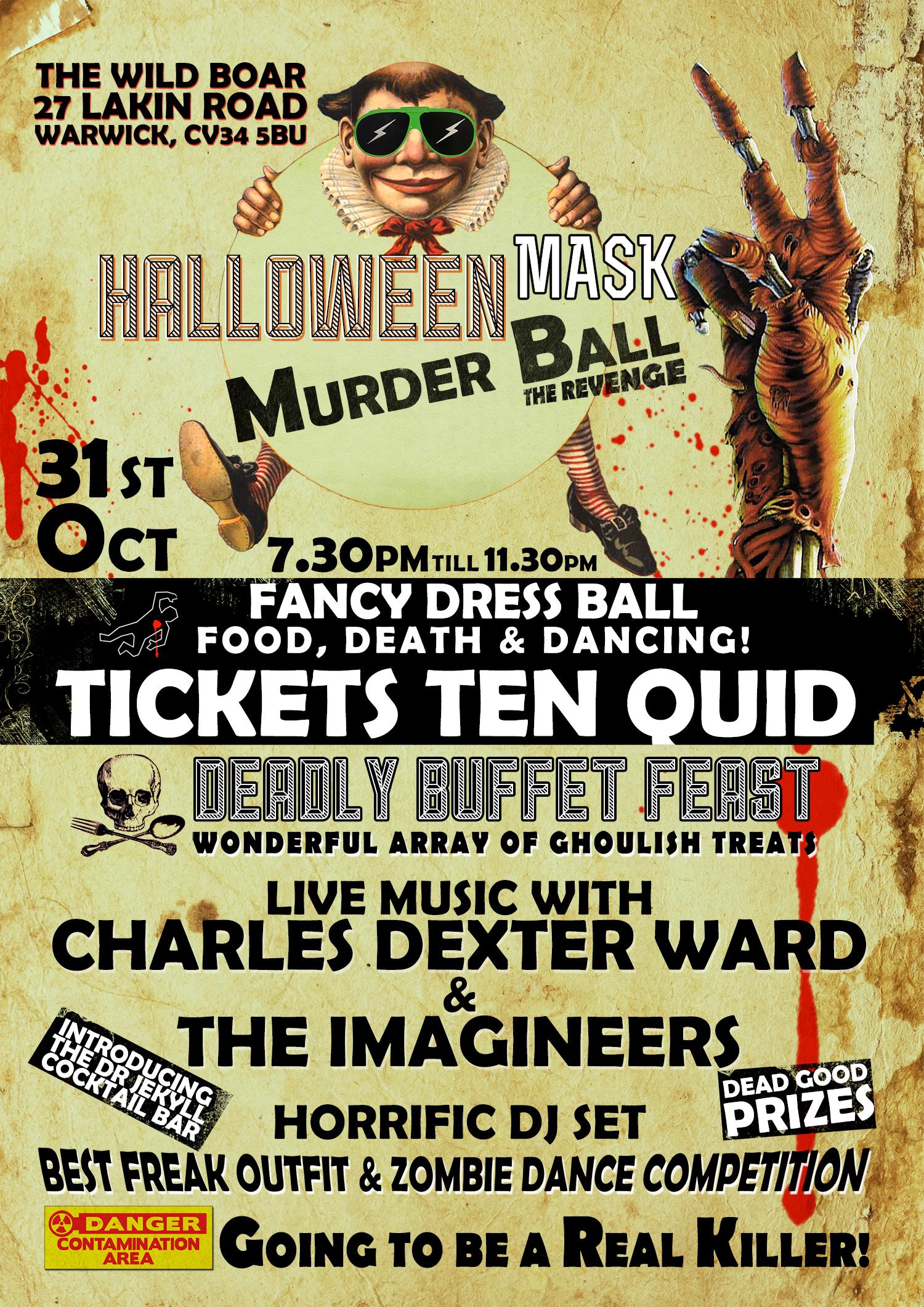 Mask murder ball poster