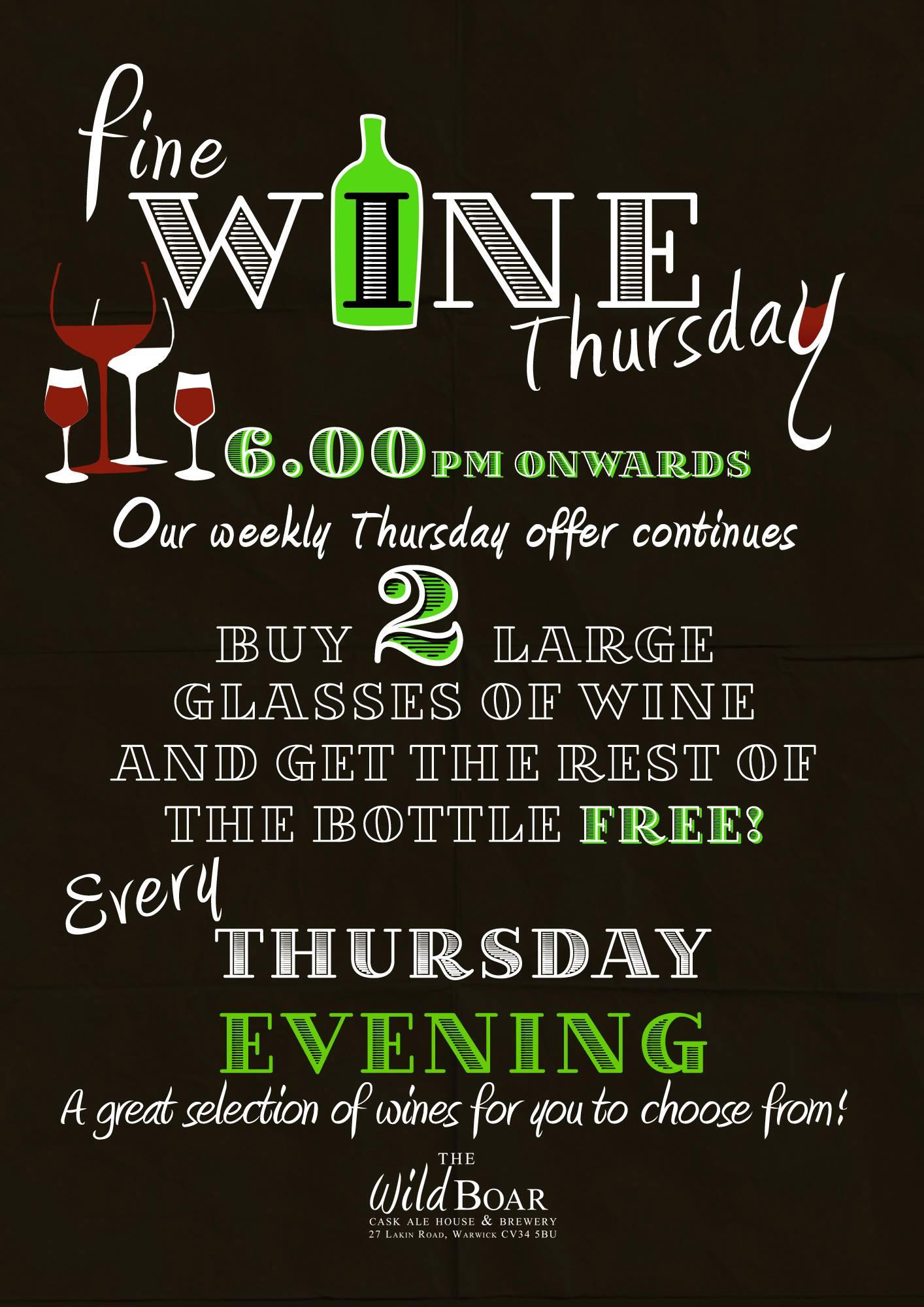 Fine Wine Thursday